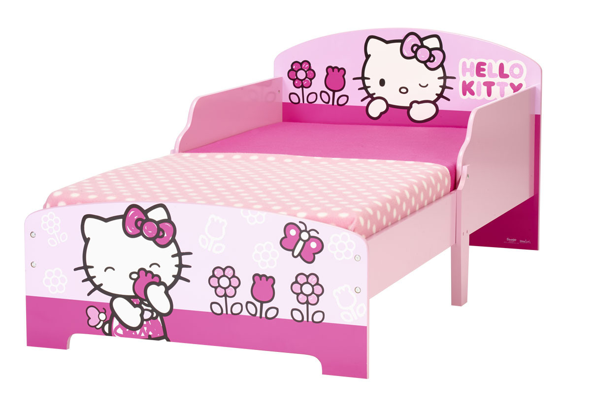 worlds apart hello kitty juniorbett junior betten mit motiven. Black Bedroom Furniture Sets. Home Design Ideas