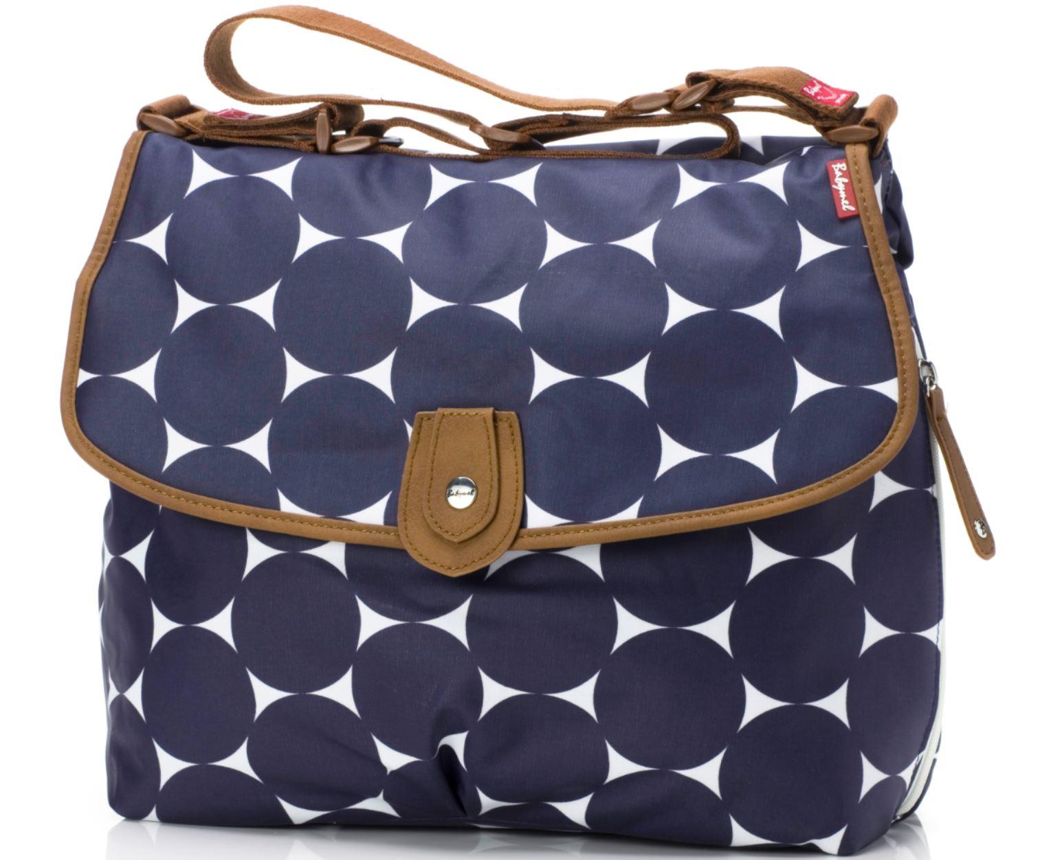 wickeltasche satchel von babymel jumbo dot navy wickeltaschen. Black Bedroom Furniture Sets. Home Design Ideas