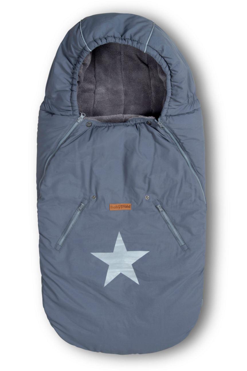 babytrold wagensack star grau fu s cke f r buggys. Black Bedroom Furniture Sets. Home Design Ideas