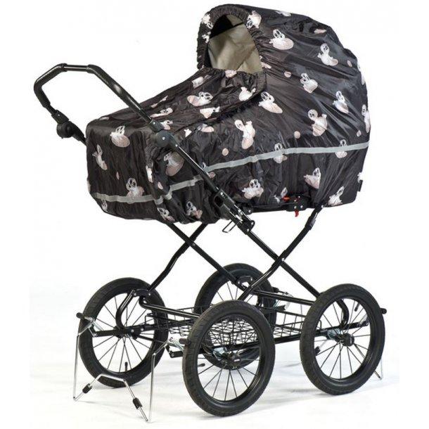 trille kinderwagen regenschutz seehunde schwarz. Black Bedroom Furniture Sets. Home Design Ideas