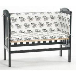 Bedside Crib Madras og sengerand sæt