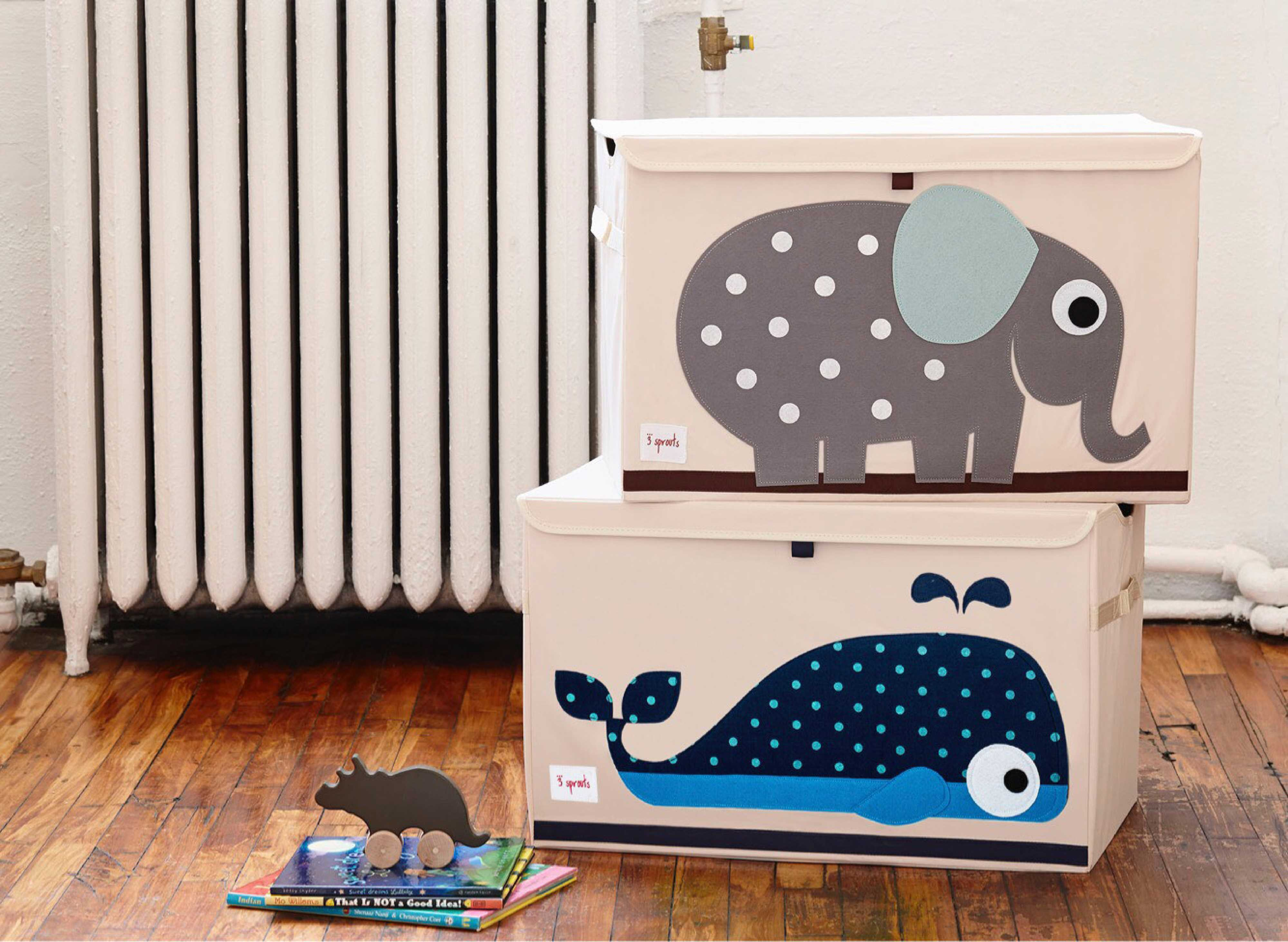 3 sprouts aufbewahrungsbox mit deckel elefant. Black Bedroom Furniture Sets. Home Design Ideas