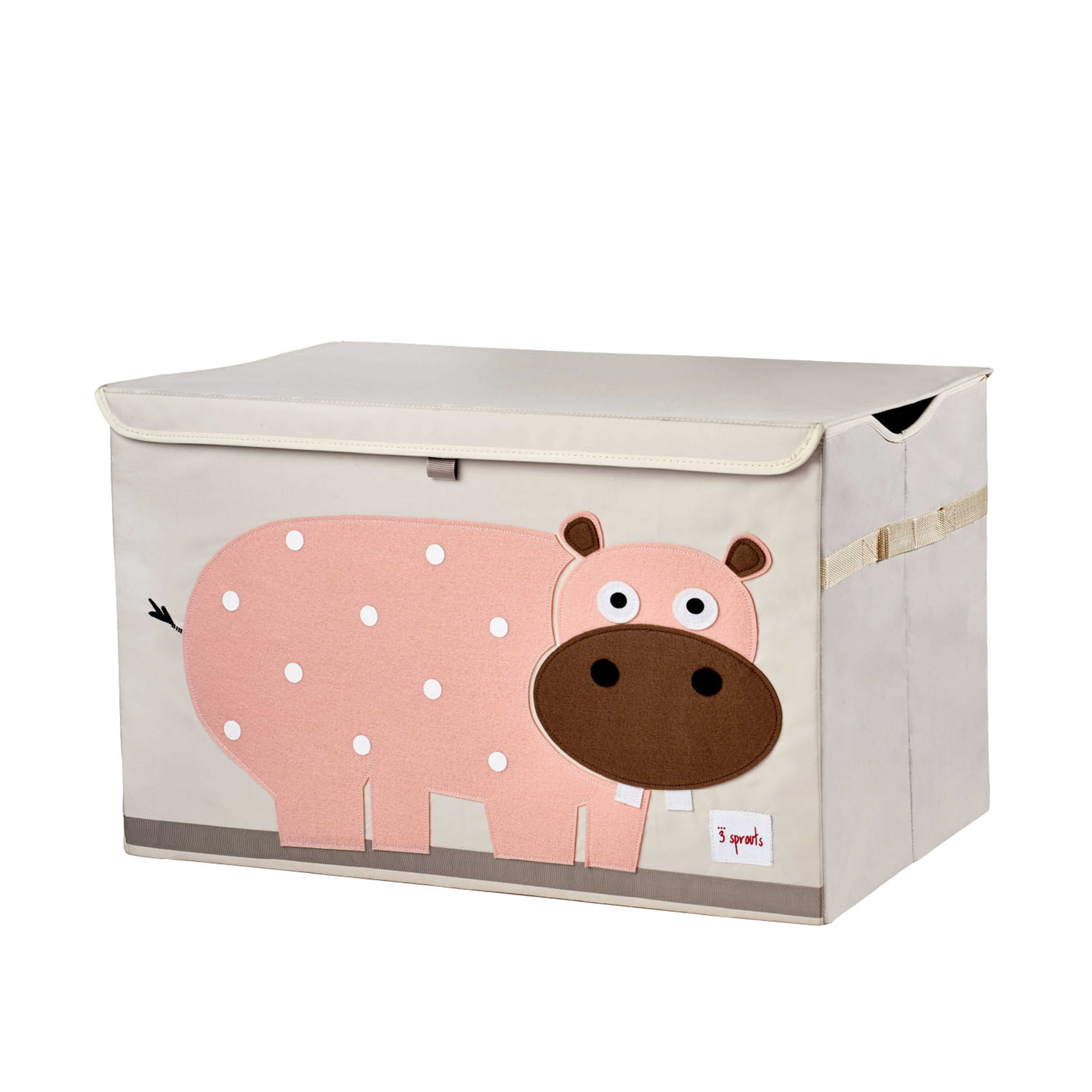 3 sprouts aufbewahrungsbox mit deckel hippo. Black Bedroom Furniture Sets. Home Design Ideas