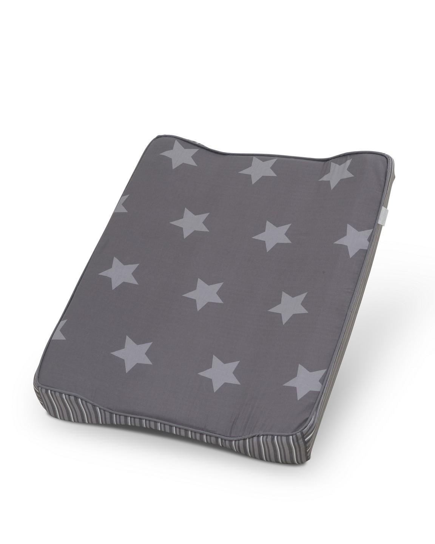trille wickelkissen grau mit sternen und streifen wickelunterlagen. Black Bedroom Furniture Sets. Home Design Ideas