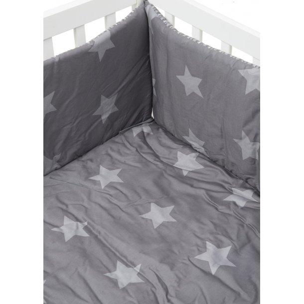 babytrold laufstall decke 100x100 star grau mit sternen und streifen laufgitter einlagen. Black Bedroom Furniture Sets. Home Design Ideas
