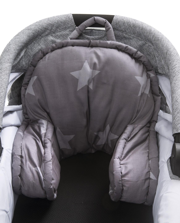 trille kinderwagen kissen star grau mit sternen und streifen kinderwagen sitzkissen. Black Bedroom Furniture Sets. Home Design Ideas