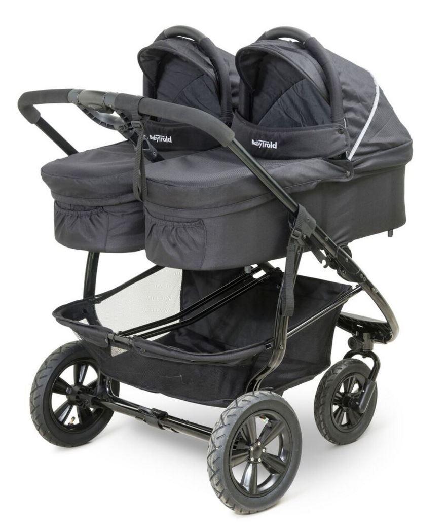 babytrold double kinderwagenwanne 1 stck schwarz. Black Bedroom Furniture Sets. Home Design Ideas
