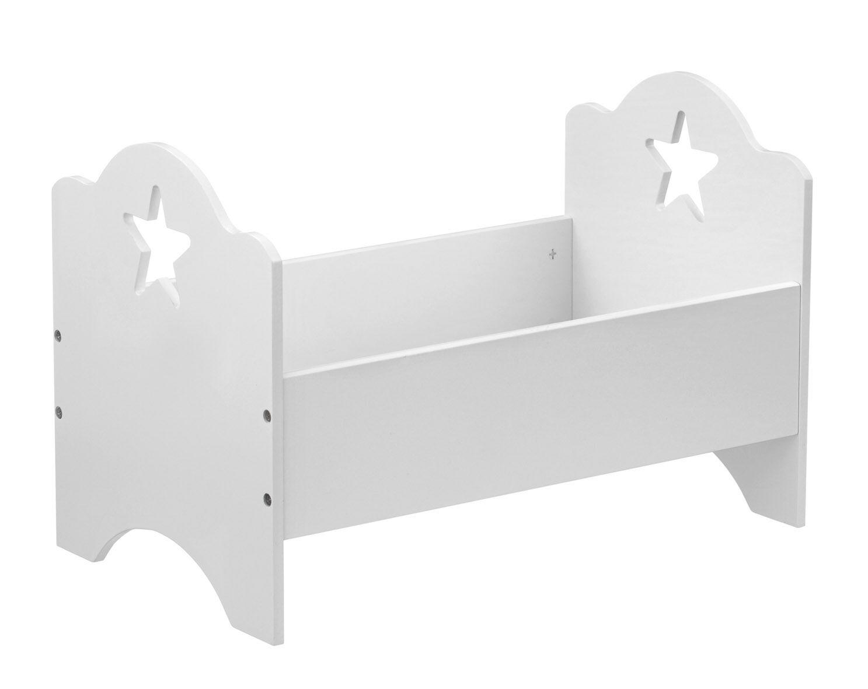 Puppenetagenbett Weiß : Kid s concept großes puppenbett sternmuster weiß puppenzubehör