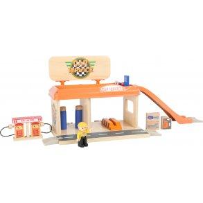 Tidsmæssigt Trægarage | Parkeringshus legetøj i høj kvalitet | Køb her! ZY-96