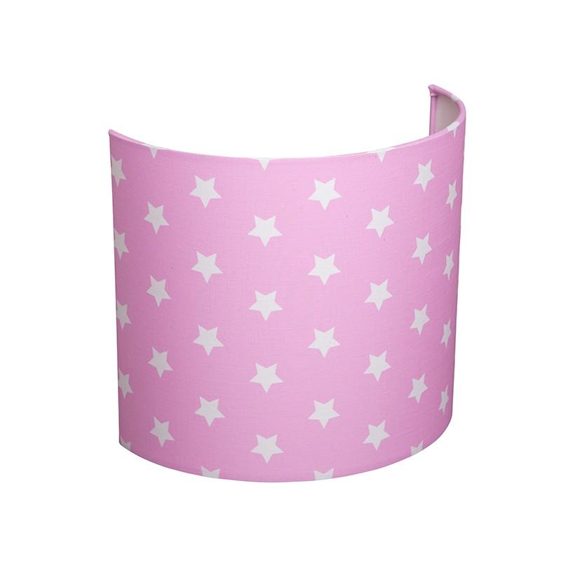 little dutch wandlampe pink mit weissen sternen wand lampen. Black Bedroom Furniture Sets. Home Design Ideas