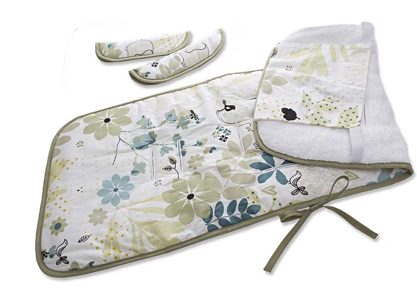 millemarille buggy sitzauflage elegant elephants kinderwagenauflagen. Black Bedroom Furniture Sets. Home Design Ideas