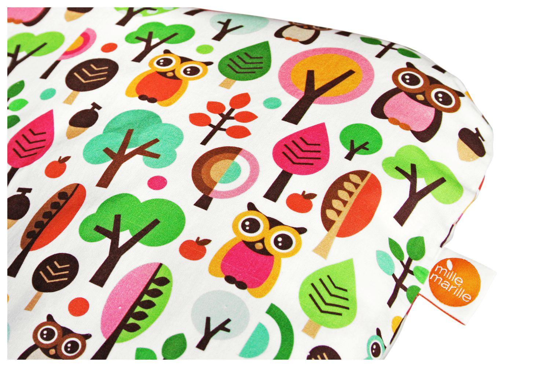 millemarille wickelauflage gro 85x75cm modern owls pink wickelunterlagen. Black Bedroom Furniture Sets. Home Design Ideas