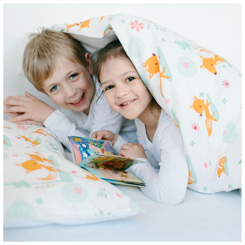 millemarille junior bettw sche 100x140cm sweet foxes junior bettw sche. Black Bedroom Furniture Sets. Home Design Ideas