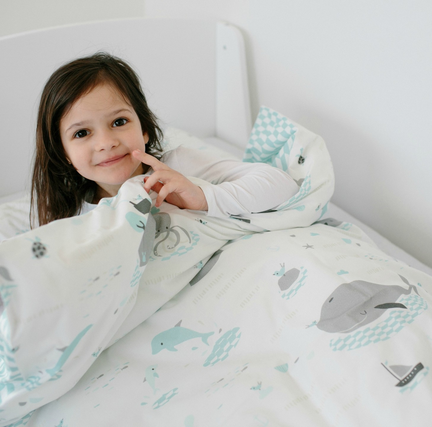 millemarille baby bettw sche 70x100cm save the whales baby bettw sche. Black Bedroom Furniture Sets. Home Design Ideas