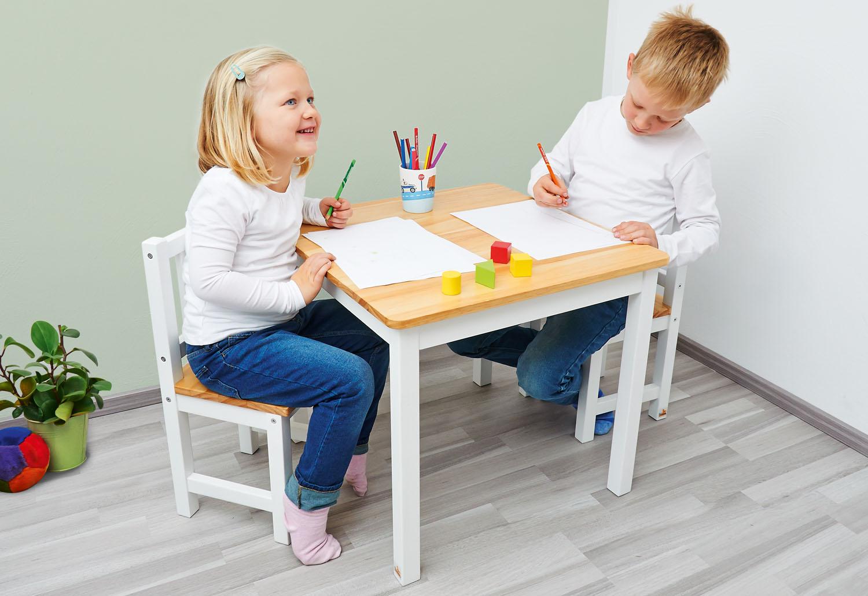 pinolino kindertisch und st hle set fenna wei tische und st hle. Black Bedroom Furniture Sets. Home Design Ideas