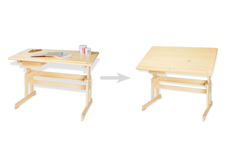 pinolino kinder schreibtisch lena lackiertes holz schreibtische. Black Bedroom Furniture Sets. Home Design Ideas