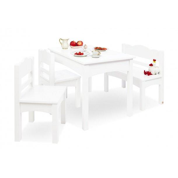 pinolino kindertisch bank und st hle set martha wei holz tische und st hle. Black Bedroom Furniture Sets. Home Design Ideas