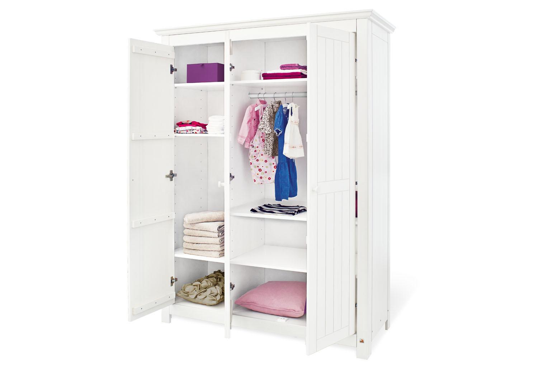 pinolino gro er kleiderschrank mit drei t ren nina schr nke. Black Bedroom Furniture Sets. Home Design Ideas