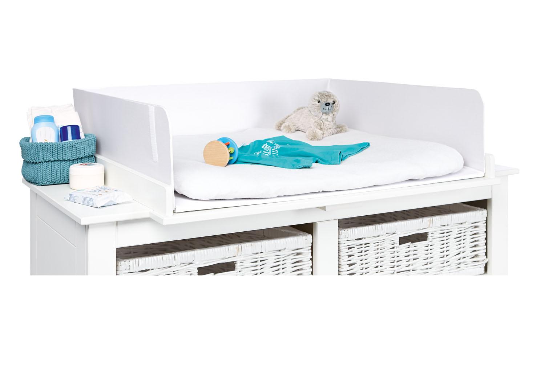 pinolino abschirmung f r wickeltisch wei wickeltische. Black Bedroom Furniture Sets. Home Design Ideas