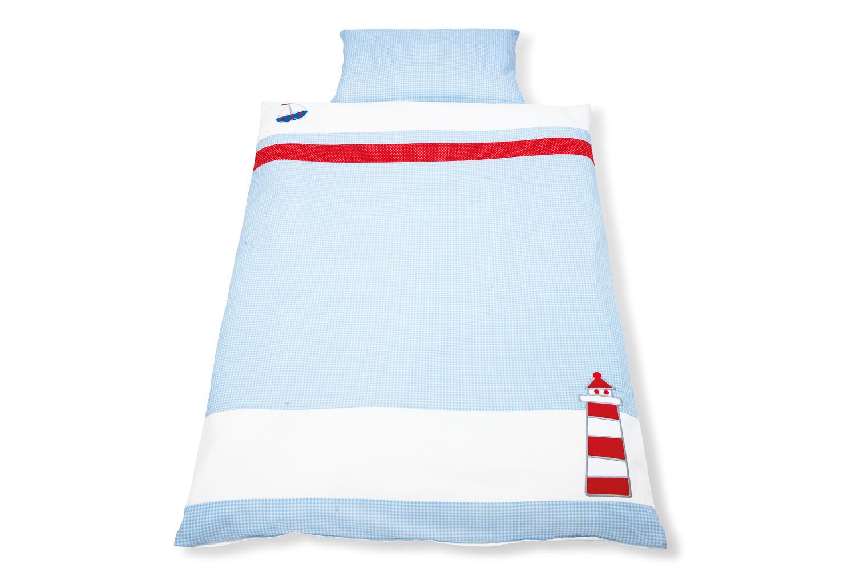 pinolino junior bettw sche 100x135 40x60cm schiff ahoi junior bettw sche. Black Bedroom Furniture Sets. Home Design Ideas