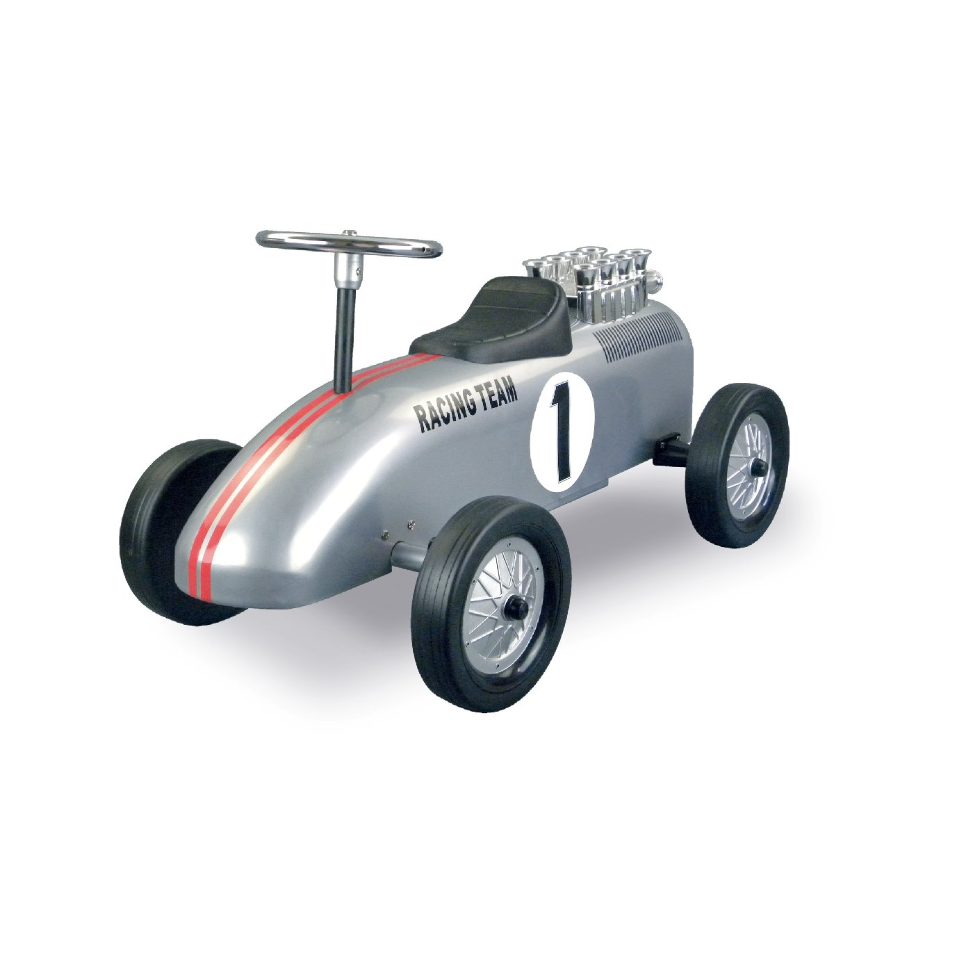retro roller gehauto racing team brett metallgrau lauf fahrzeuge. Black Bedroom Furniture Sets. Home Design Ideas