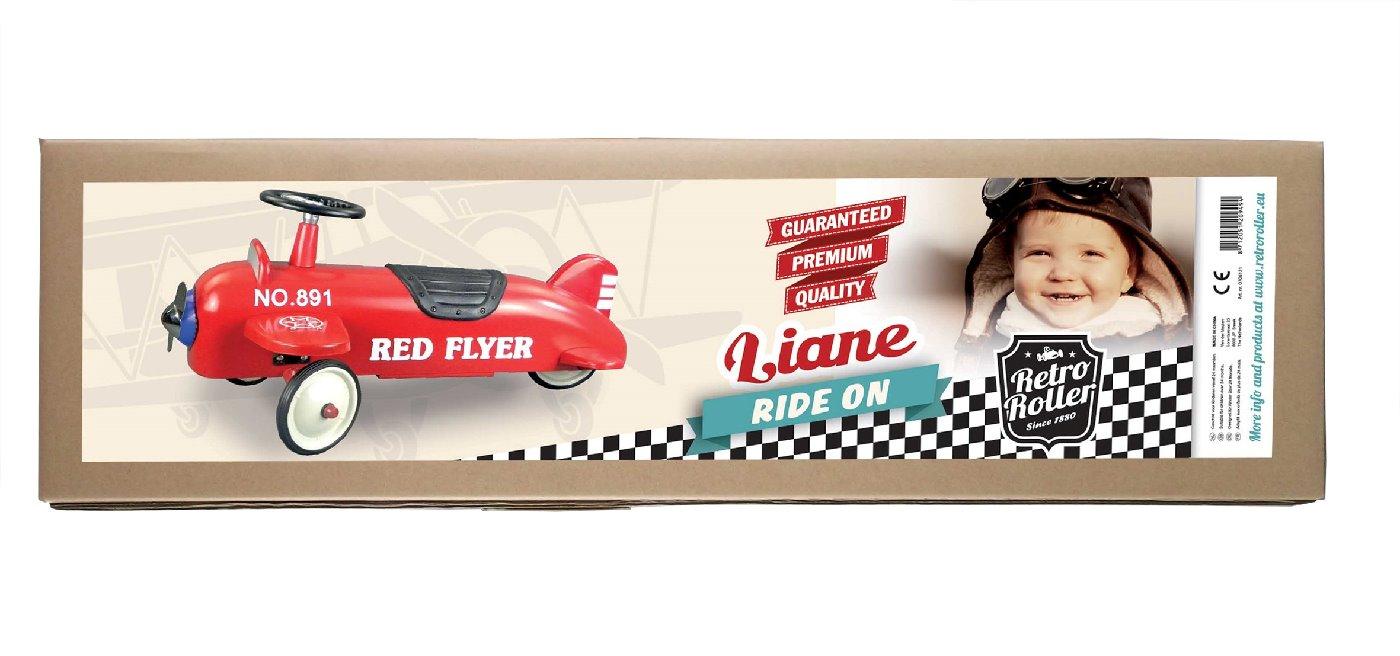 retro roller gehauto liane flugzeug rot lauf fahrzeuge. Black Bedroom Furniture Sets. Home Design Ideas