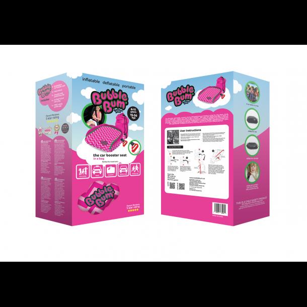 bubblebum kindersitz 15 36 kg rosa kindersitzerh hungen. Black Bedroom Furniture Sets. Home Design Ideas
