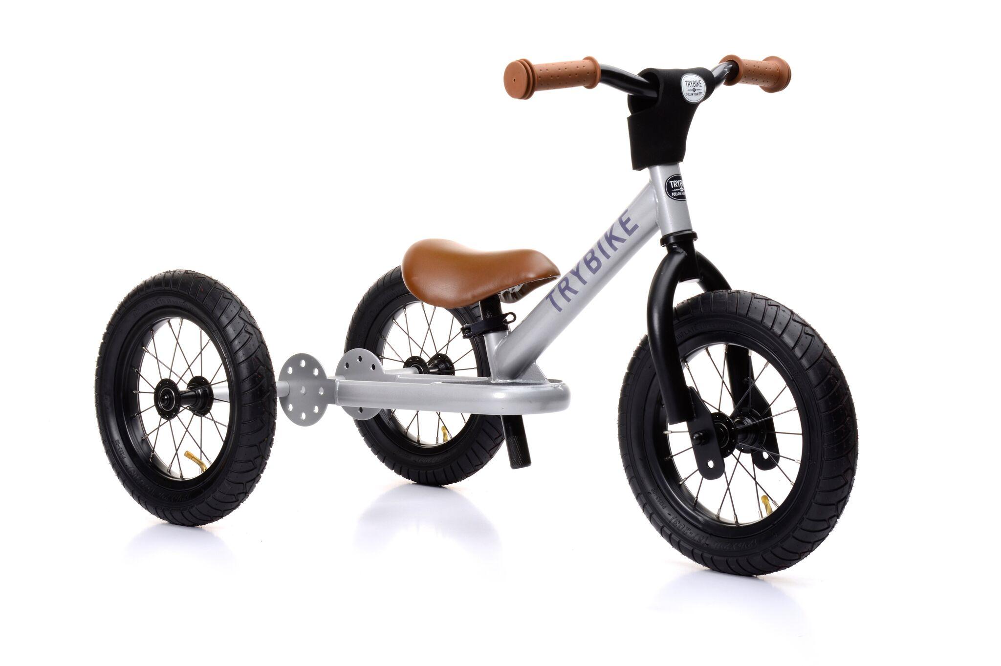 76a50333a14 Trybike Balancecykel - 3hjul, Stål/Sølvfarvet - Løbehjul ...