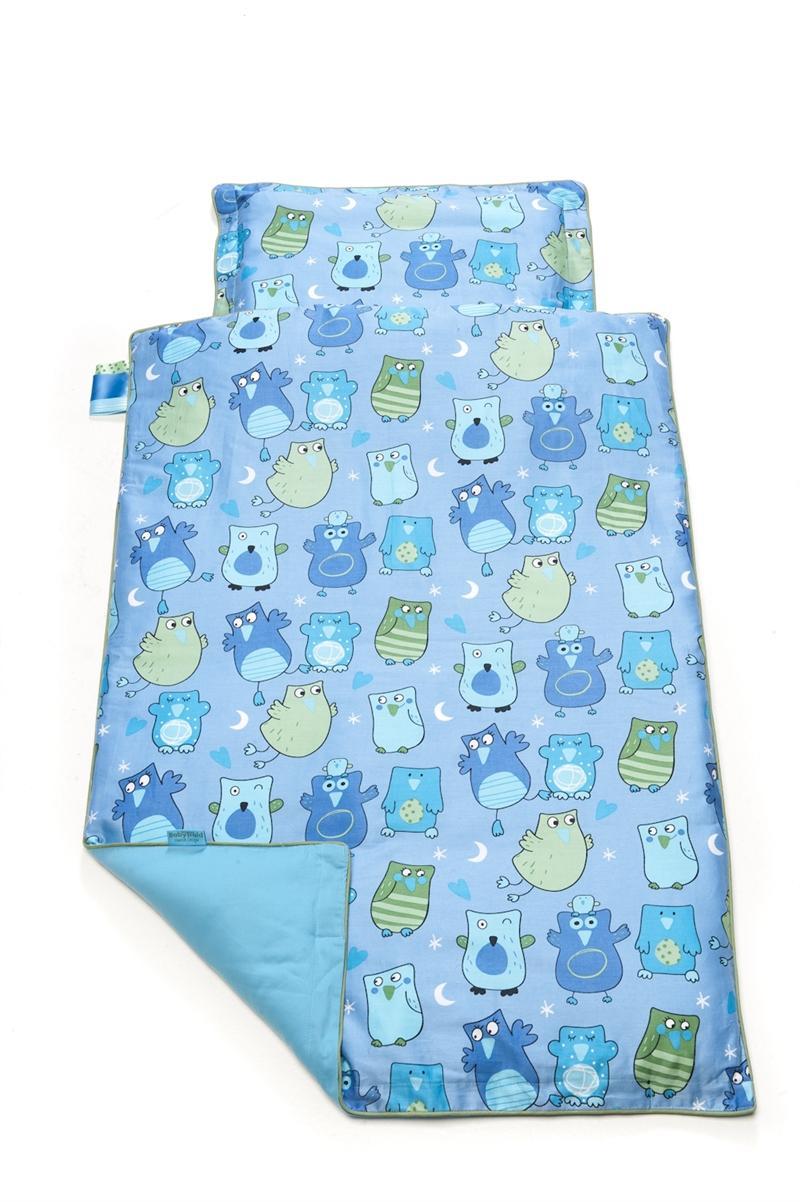 babytrold babybettw sche 80x70 cm eulen blau baby bettw sche. Black Bedroom Furniture Sets. Home Design Ideas